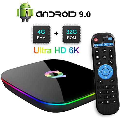 Q Plus Android TV Box, TUREWELL Android 9.0 TV Box Chip H6 Quad-core Cortex-A53 4GB RAM 32 GB ROM Smart TV Box Support…