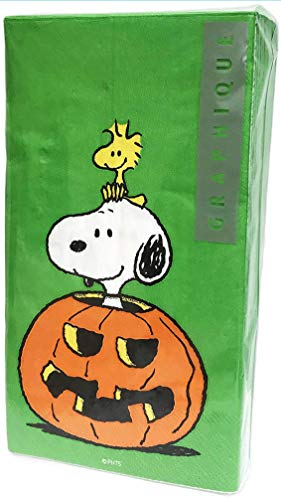 Graphique Peanuts Characters Snoopy & Woodstock Inside Pumpkin Guest Towels Buffet Paper Napkins, 32 ct for $<!--$21.50-->