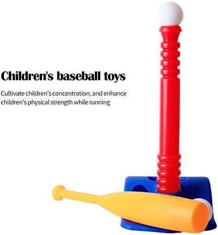 Baseball Tee Game Includes 2 Balls Adapts Childs Growth Spurts Improves Batting Skills Raintoad Kids Baseball Tee Set Adapts with Your Childs Growth Spurts Adjustable T Height