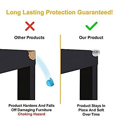 SKYLA HOMES - Clear Corner Protectors (28-Mix-Pack)   High Resistant Adhesive Gel   Best Baby Proof Corner Guards   Stop Child Head Injuries   Tables, Furniture & Sharp Corners Baby Proofing