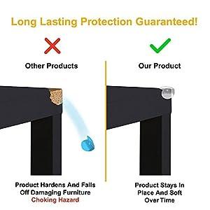 Regional Furniture CLEAR CORNER PROTECTORS | High Resistant Adhesive Gel | Best Baby Proof Corner Guards | Stop Child Head Injuries | Tables, Furniture & Sharp Corners Baby Proofing