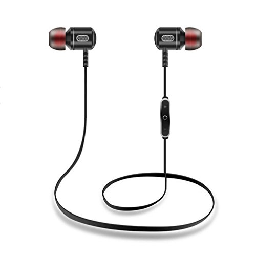 Price comparison product image GBSELL Bluetooth Wireless Waterproof Headphones In-Ear Stereo Sports Headset For iPhone Samsung LG IPAD (Black)