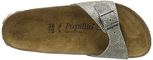 Papillio Madrid Leder - Mules Mujer Grau (Royal Python Gray)