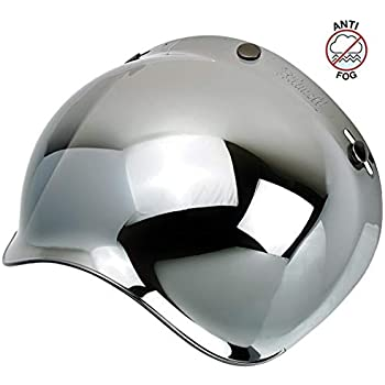 84c2ef08 Biltwell Unisex-Adult (BS-CHR-AF-SD) Bubble Shield-Chrome Mirror-Anti-Fog,  One Size)