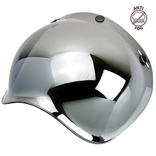 Biltwell Unisex-Adult (BS-CHR-AF-SD) Bubble Shield-Chrome Mirror-Anti-Fog, One Size)