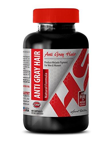 Folic Acid Supplement Organic - Anti Gray Hair Natural Formula - Support The Nervous System (1 Bottle)