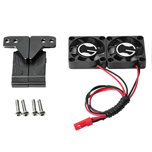 Dartphew Educational Toys RC Car Parts Radiator Cooling Twin Fans for 1/10 Traxxas TRX-4 TRX4 RC Car Part Car Model Part Car Toy Kits Hands-on Ability Early Educational Toys