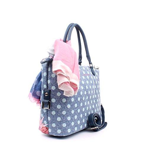 Menton 4893 Borsa Pashbag Ocean Bag Du Blu Sac Pash Denim Atelier Donna XAqwxE