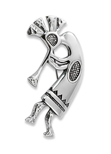 Navajo Large Silver Kokopelli Flute Player Brooch Pin