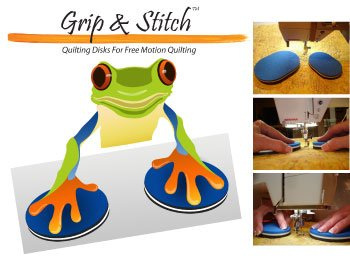 - Grip & Stitch Free Motion Machine Quilting Disks Clever Craft Tools