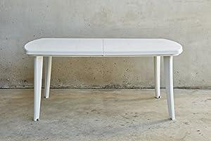 Shaf Atlantic - Mesa extensible, Blanco, 225 x 100 x 73 cm: Amazon ...