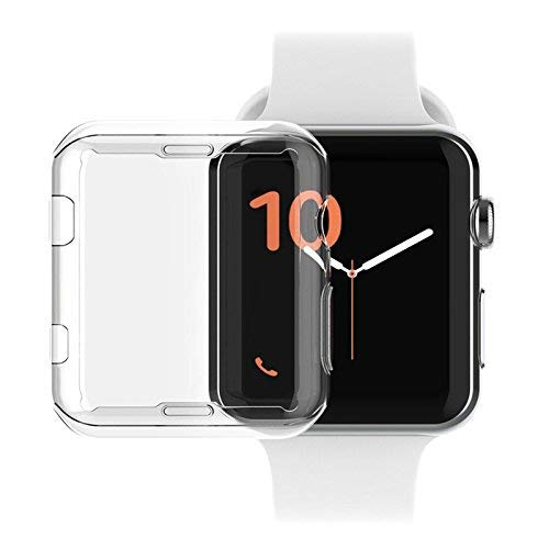 BBtech Case for Smart Watch, Screen Protector Hard Shockproof All-Around Protective Case HD Clear Plastic Ultra-Thin Cover Compatible Apple Watch Series (38mm) ()