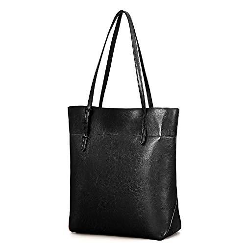 Kattee Vintage Genuine Leather Tote Shoulder Bag With Adjustable Handles ()