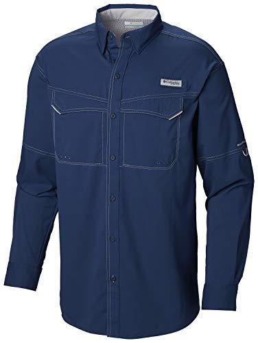Columbia Men's PFG Low Drag Offshore Long Sleeve Shirt,Carbon , Large