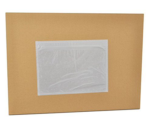 Clear Packing List Envelope Plain Face Top Load 7.5'' x 5.5'' 6000 Pieces by PackagingSuppliesByMail