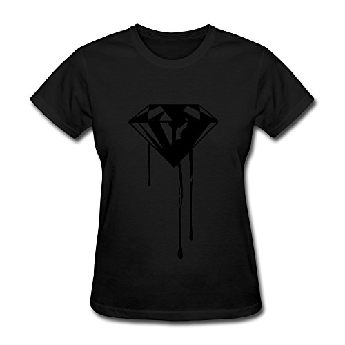 X112 Diamond Drip Tees For Woman M Black by X112