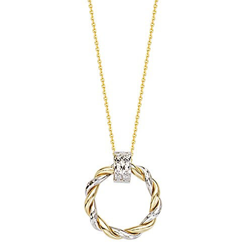 nd Yellow Gold Necklace Braided Round Doorknocker Style ()