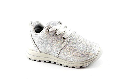 Chaussures Argent Bianco Fille Paillettes 75328 Lacets Gris Primigi Sneaker v6fg7Af