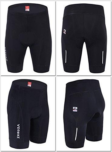 ALLY 3D Profesional Hombres Moldeado Acolchado Anti-Bac Ciclismo Culottes con Aire de Alta Permeabilidad - M/L/XL/XXL/XXXL opcional Negro/Negro