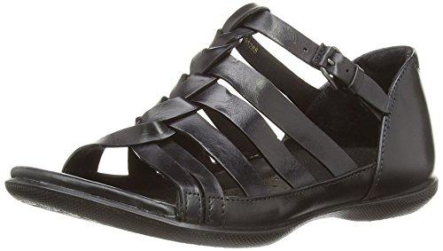 BLACK2001 de Sandalias Ecco Mujer 2407930 Flash ECCO cuero Negro qwIxAZ8C