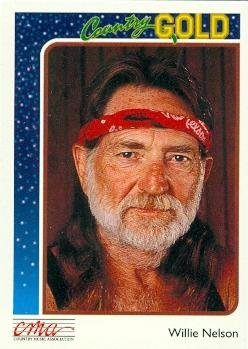 Willie Nelson trading card (Country Music) 1992 Sterling Country Gold #34