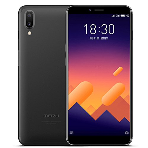 Unlocked Smartphone Meizu Meilan E3 4G LTE Cell phone 6G RAM 64GB ROM Snapdragon 636 Octa Core 5.99'' FHD 2160X1080P Dual Real Camera Fast Charger mTouch Side Fingerprint Android 7.1 (black) by Meizu