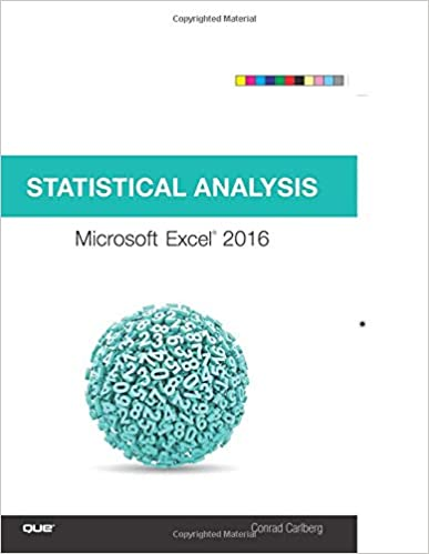 Amazon com: Statistical Analysis: Microsoft Excel 2016