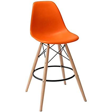 Amazoncom 2xhome Set of Two 2 Orange 25 Seat Height