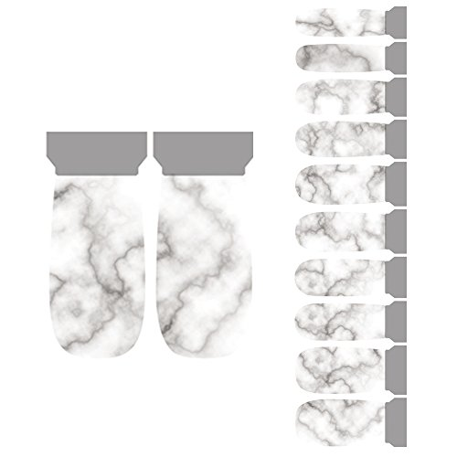 Winstonia 20pcs Chic Nail Wrap Stickers Easy Manicure Nail Art Strips - Marble Stone