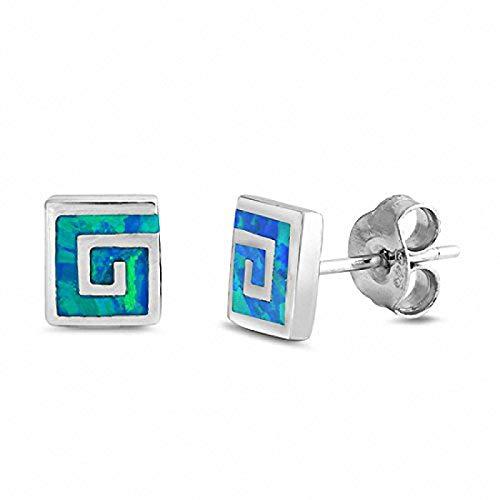 Square Spiral Earrings - 2