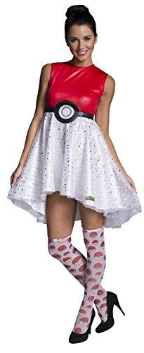 Rubie's Costume Co Women's Pokemon Pokeball Costume Dress, Multi, Large