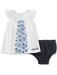 Baby Girls' 2 Pieces Denim Dress with Panty-Belted