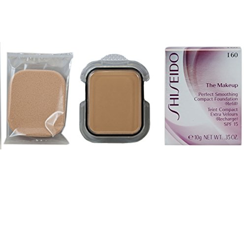 - Shiseido SPF 16 Perfect Smoothing Compact Foundation Refill, I60/Natural Deep Ivory, 0.35 Ounce