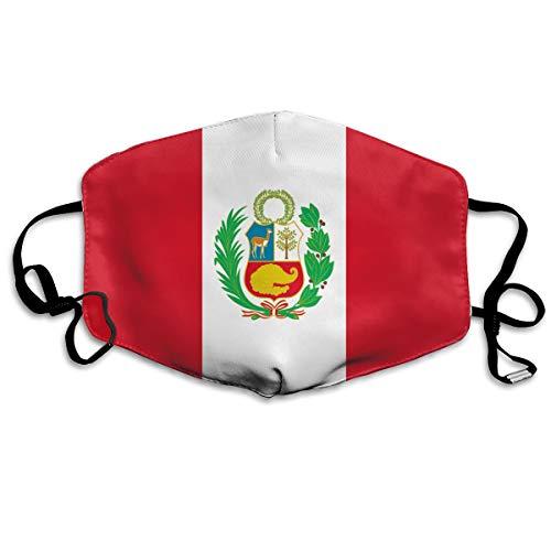 HXXuan Peru Flag Unisex Anti-Dust Flu Reusable Face Mouth Mask