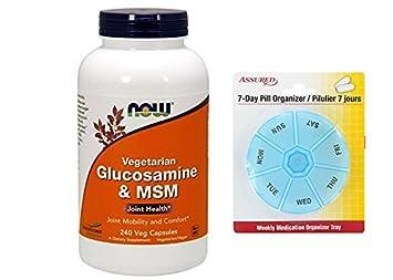 AHORA la glucosamina y MSM, 240 Veg cápsulas
