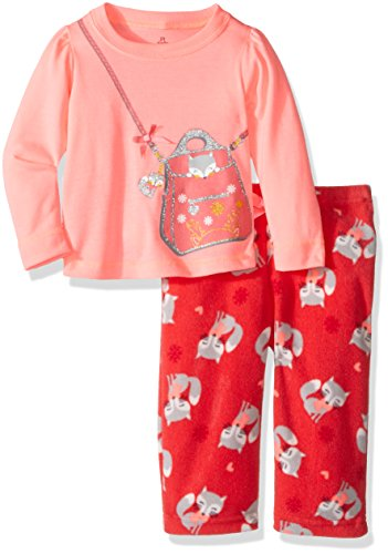 Petit Lem Baby Girls' Purse Pajama 2 Piece Set, Fox, 12M ()