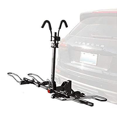 BV Bike Bicycle Hitch Mount Rack Carrier for Car Truck SUV - Tray Style Smart Tilting Design by BV