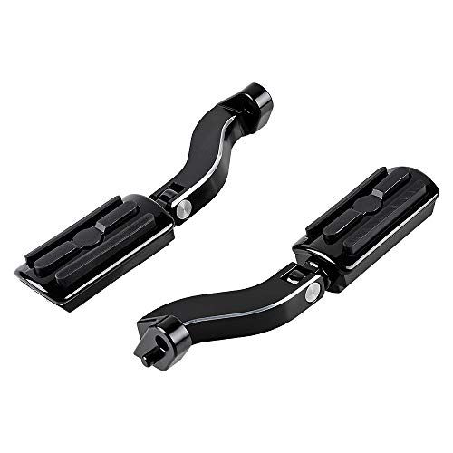 Edge Cutting Rear Footpegs Mount Kit and Black Foot Peg Foot Rests Compatible with 1993-2018 Harley Touring Street Electra Road Glide Road King
