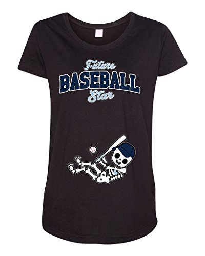 Future Baseball Star Tampa Bay Baby Fan Sports Ball Maternity DT T-Shirt Tee (XX-Large, Black)