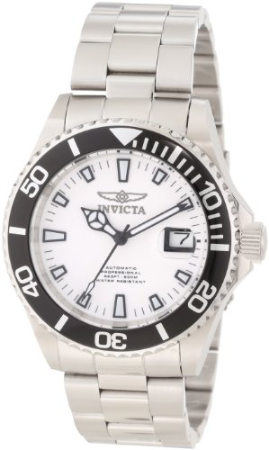 Invicta Men's 1002 Pro Diver Automatic White Dial Stainless Steel Watch