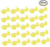 Podoy Solderless Wire Quick Splice Connector Yellow 10-12 Gauge 25 Pack