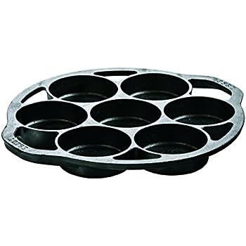Lodge L7B3 Cast Iron Drop Biscuit Pan, Pre-Seasoned