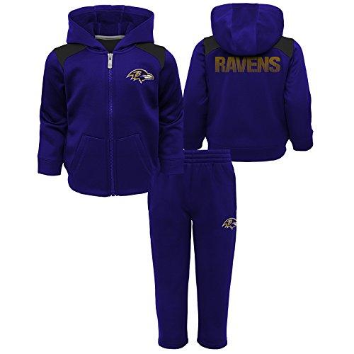 Outerstuff NFL Baltimore Ravens Toddler Play Action Performance Fleece Set, Ravens, Purple, 4T
