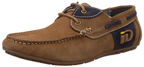 Id Chaussures De Bateau En Cuir Marron