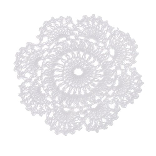 D DOLITY 12cm / 4.72'' Round Crochet Lace Doily White for sale  Delivered anywhere in Canada
