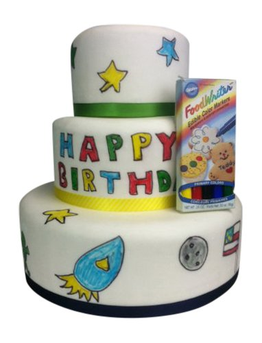 Fake Cake Birthday Cake with Fondant for Kids by FunCakes (Fake Birthday Cakes For Display)