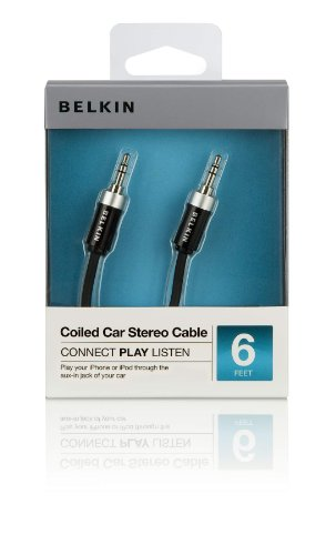 Belkin Coiled Car Stereo Cable for iPod/iPhone