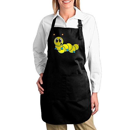 Man In The Yellow Hat Costume Ebay (Dogquxio Cute Yellow Caterpillar Kitchen Helper Professional Bib Apron With 2 Pockets For Women Men Adults Black)