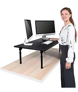 Escritorio para estar de pie de altura regulable for Altura de un escritorio