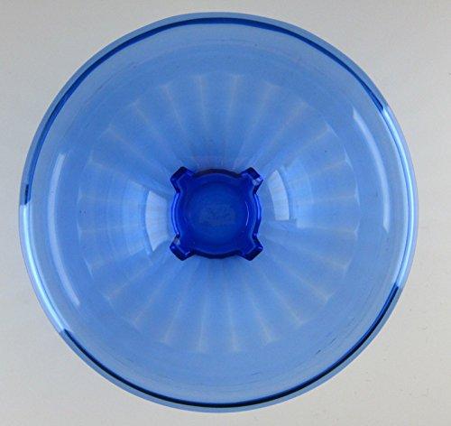 """Hazel-Atlas Crystal ATC14-RIBBED/COBALT Mixing Bowl 7"""""""